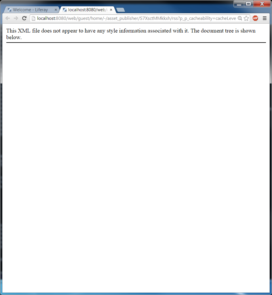 LPS-52317] Empty RSS xml is produced in Asset Publisher on