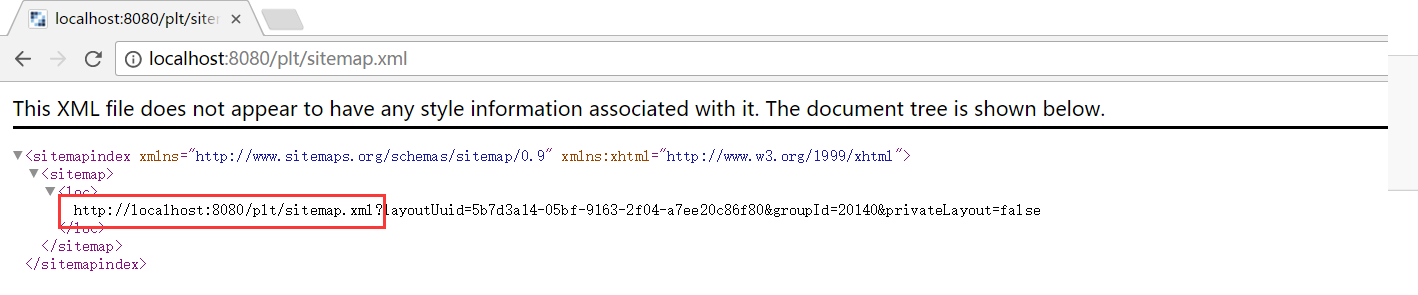 lps 72580 sitemap xml provides an incorrect url for the loc tag