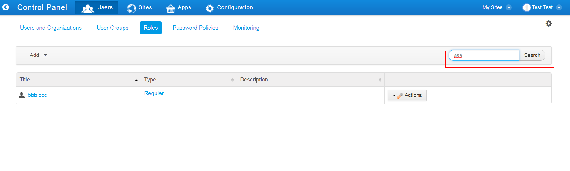 LPS-33454] Cannot search roles by title - Liferay Issues